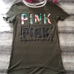 PINK Victoria's Secret Tops - PINK logo t shirt